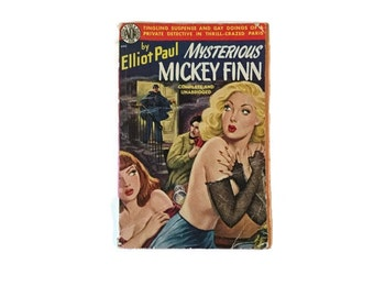 Mysterious Mickey Finn - Elliot Paul - Pulp Fiction private eye - 1950 reprint edition