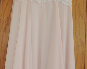 Jessica McClintock Pink Chiffon and Lace Party Dress size 14 with tags