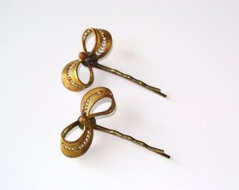Vintage upcycled hair pins