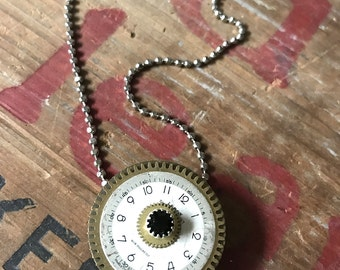 Steampunk Locket, Necklace for Timely Memories