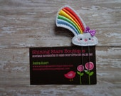 Planner Clips - Classic Rainbow With A Happy White Cloud Paper Clip Or Bookmark - Seasonal Accessories For Planners, Calendars, Or Books