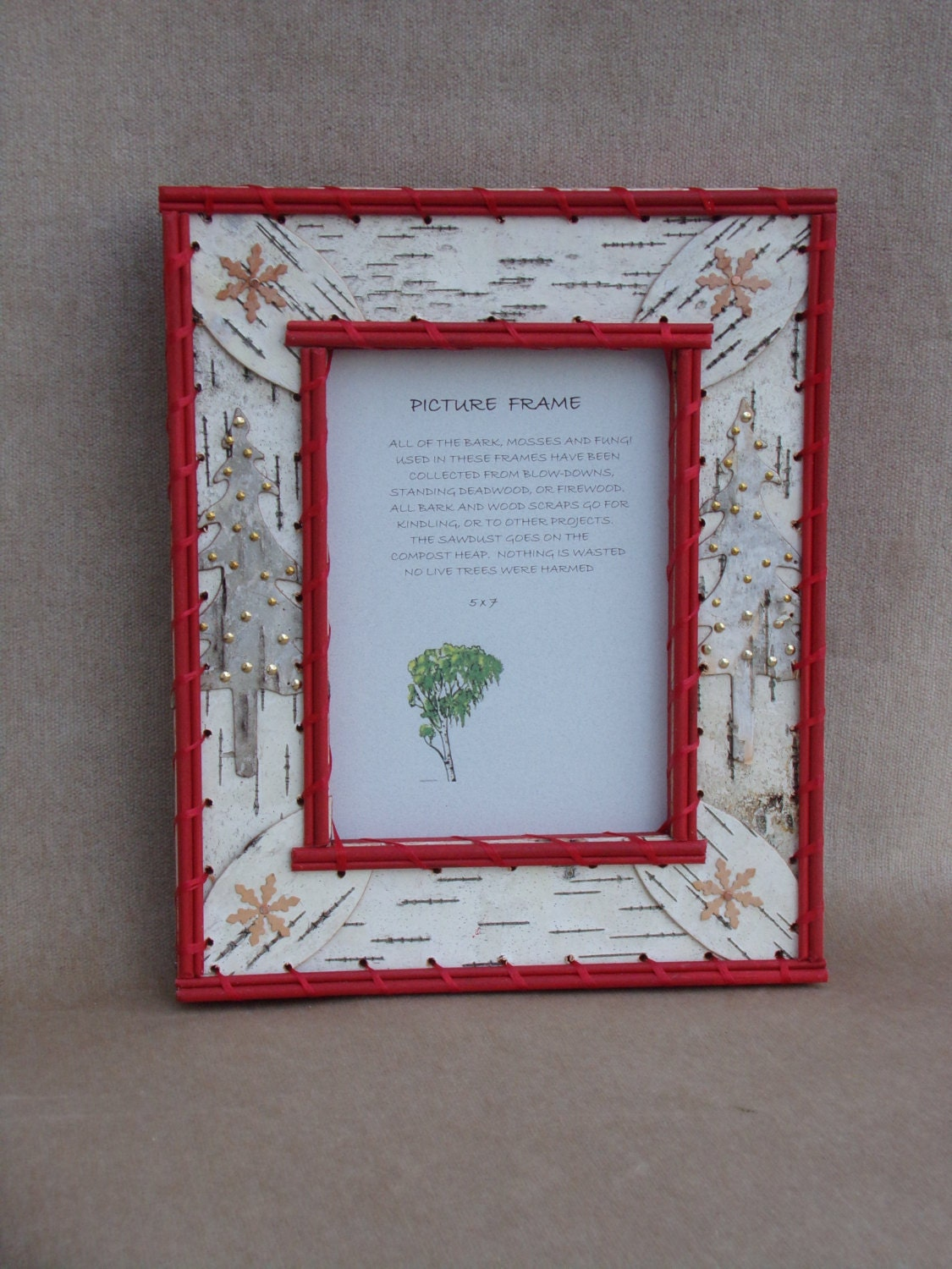 Red 5 X 7 Christmas Picture Frame