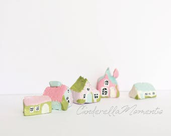 1/12 Scale Pastel Clay House Village