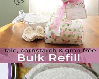 Lavender Vanilla Body Powder | Bulk Refill Powder | Dusting Bath Powder | 8oz or 1lb Loose Powder | Deodorant Powder | Talc Free | Organic