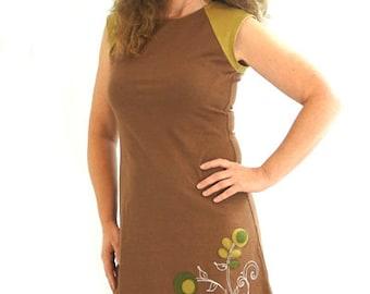 Raglan Dress - L - MEADOW STRIPE - Organic Cotton/Lyrca