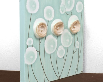 Original Acrylic Painting on Canvas Flower Wall Art - Small 10x10