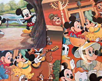 Vintage Disneyland, Vintage Postcards, Mickey Mouse, Cartoon Characters, Vintage Disney, 1970s Disneyland Postcards, Country Bears, Main St.