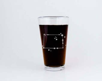 Colorado State Constellation Stars | Etched Pint Glass