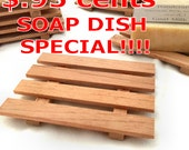 SALE - 28 aromatic Spanish cedar soap dishes - .95 cents each - handmade in America-