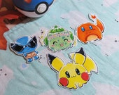 Pokemon Inspired Stickers | Kanto Starters