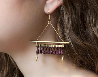 Lace earrings - KABAK - Black, burgundy, teal or white lace