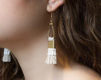 Lace earrings - TALCO - Black, burgundy, teal or white lace