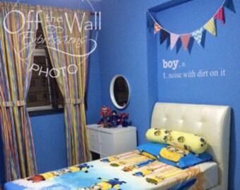 Boy Definition, Boy noise with dirt on it,  boys room decal, nursery decor, boy quote, boy decor