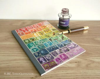 Rainbow Bullet Journal Notebook A5 - Dot Grid Pages & Index Page