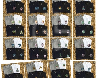 Sorority Crest Quarter Zip Long Sleeve Sweater  / Licensed  / Chi Omega / Delta Gamma / Alpha Chi Omega / Delta Zeta