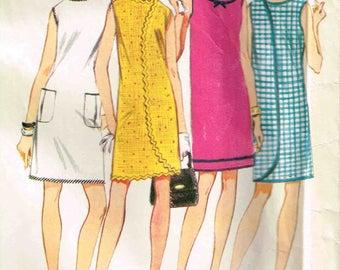 Vintage 1960s Wrap Dress 3 Armholes Wrap a Rounder McCalls 9119 Sewing Pattern Size Medium M Misses 12 14 Bust 32 34