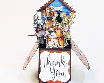 Custom Pop Up Card - Personalized Greeting Card - Unique One of a Kind Cards -