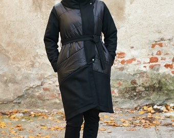 Winter Coat Black Wool Coat Womens Coat Black Coat Big