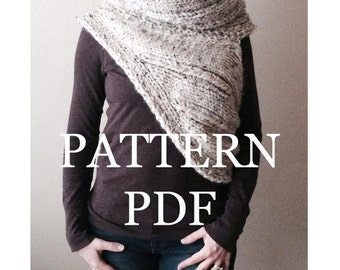 Sale Price Today Only PATTERN PDF - Pattern for DIY Panem Katniss Inspired Cowl - Two Looks - Easy Knitting Pattern - customizable sizes