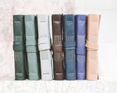 6 x 4 Blank or Lined Leather Book - A6 Soft Wrap Cover - Custom Colours - Pick your Own
