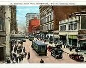Vintage Canada Postcard - St. Catherine Street West, Montreal (Unused)