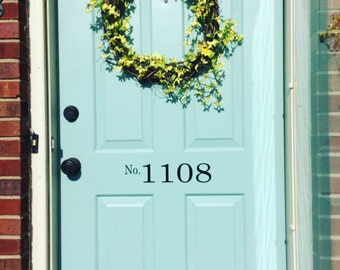 Door Numbers -Custom Vinyl Decal - Address Numbers - Door Decal - Address Decal