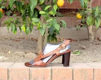 Made in Spain - Stuart Weitzman - Leather Heels ( Sz 8.5, Eu 39 )