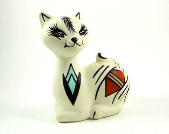 Vintage Acoma Pueblo Pottery Cat Figurine