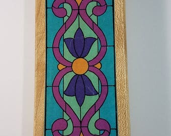 Ornate Stain Glass Window Pattern Rubber Stamp Bible Journaling Bookmark