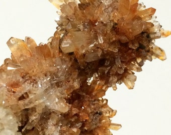 138.1 gram Creedite Crystal Cluster, Orange Mineral Gemstone,  Metaphysical Reiki New Age Healing