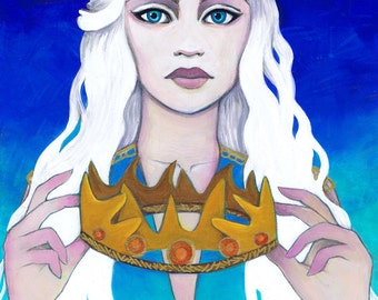 "Daenerys Targaryen Tribute: ""Queen of Thrones"" 8x10 Fine Art Print by Leilani Joy"