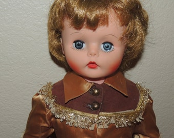 Vtg 21 inch doll with Western Costume