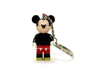 Classic Geek Keychain made from New Mouse LEGO ® Minifigure