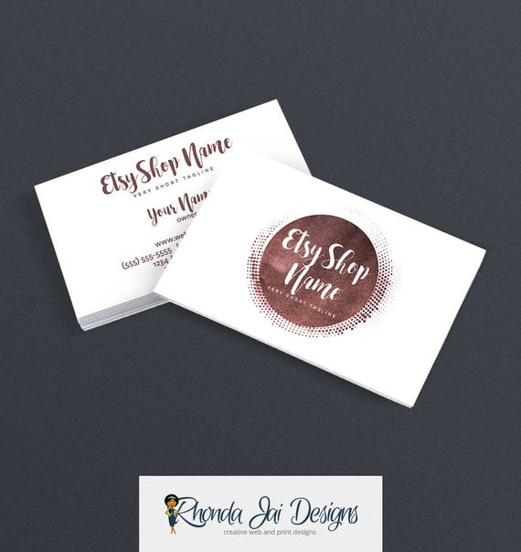 Items similar to business cards for etsy shop 2 sided for Etsy shop business cards