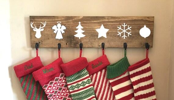 Family stocking hooks hanging hanger