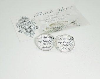 Hold my Hand Cuff Links with Case, groom, groomsman, bridesman cufflinks, custom wedding gifts wedding gift Box