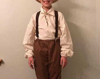 Tom Sawyer Costume Boy's Colonial Civil War Costume Size 2T to 14
