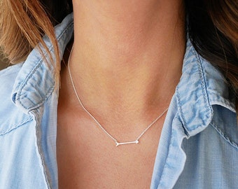 Silver Arrow Necklace | Sterling Silver | Sideways Arrow Necklace