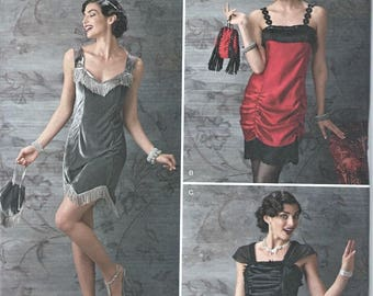 UNCUT Simplicity Misses Costume Pattern - ArkiVestry - 50's Inspired Flapper Style Size 6-12
