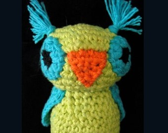 Ultimate Cat Toy Owl, Certified ORGANIC Catnip/Valerian mix, hand-crochet, high quality cotton in head and belly