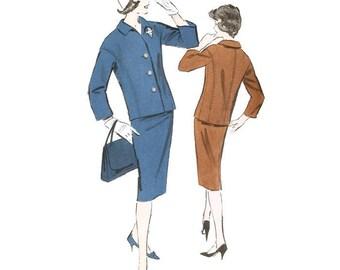 1950s Skirt Suit Pattern Advance 9153 B34 Sz 14 uncut