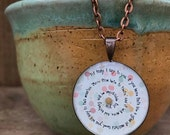 """Mustard Seed Necklace with 24"""" Antique Copper Chain"""