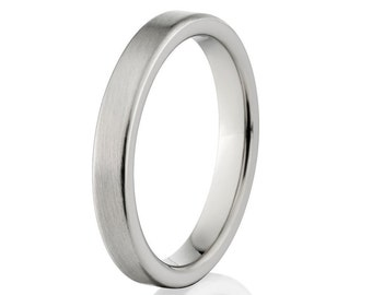 New 3mm Comfort Fit Ring, Custom Titanium Jewelry-  3F-B
