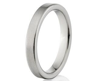 New 3mm Wide Comfort Fit Ring Titanium - 3F-B
