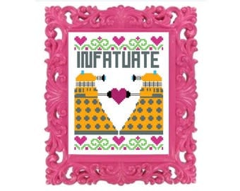 Doctor Who Dalek Infatuate Cross Stitch Pattern