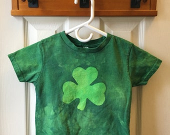 Kids Shamrock Shirt, St. Patrick's Day Shirt, Girls Shamrock Shirt, Boys Shamrock Shirt, Short Sleeve Shamrock Shirt (3T)