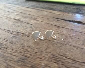 Tiny Gold Umbrella Stud Earrings