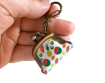 Pineapple Keychain, Watermelon Keychain, Food Keychain, Cute Key Chains, Backpack Charm, Small Gifts for Teens, Unique Key Chains, Novelty