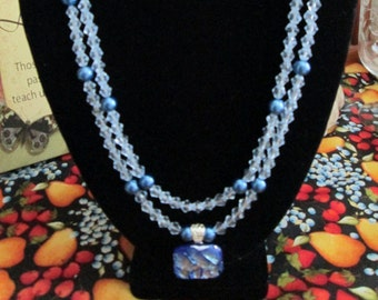 Night Moves Pearl and Czech Glass Necklace - Stunning - Night on the Town - Timeless and Classic - Wedding - Anniversary - Gift
