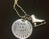 Born to Make History Yuri On Ice Inspired hand-stamped pendant